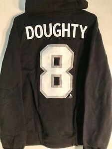 REEBOK Pullover Hoodie NHL Jersey Los Angeles Kings Drew Doughty Black sz M