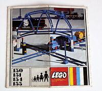 Lego 150 151 154 155 Eisenbahn aus 1967 Bauanleitung Gebraucht  ohne Steine 49