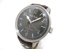 Auth Paul Smith 1045-S076790 Dark Brown Silver Men's Wrist Watch 191020970