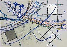 """Abstrakte Kunst - Gemälde Acrylbild Malerei - """"Silver"""" von A&A Arts"""