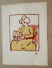 Rare C. 1905 Original Louis Valtat Fauvist Woodcut