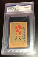 GORDIE HOWE SIGNED 1951 PARKHURST RED WINGS ROOKIE CARD PSA/DNA GEM MINT 10 AUTO