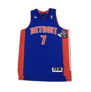 New Adidas Large Detroit Pistons Brandon Knight Autographed Swingman Jersey Blue