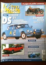 RETRO Passion n°116; Alfa Roméo GT & GTV6/ Citroën DS 21/ Hispano-Suiza