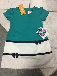 NEW Gymboree Girls Picture Day Line Green Gray Dress Curlies 2T