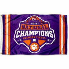 Clemson Tigers Football 2018 National Championship Flag Large 3x5