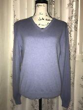 Kirkland Signature 2-Ply 100% Cashmere Lavender V-Neck Sweater LongSleeve Size M
