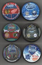 Winter Classic 6 Puck Lot Dueling 2008 2009 2010 2011 2012 2014 NHL + Free Cubes