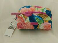 NWT Vera Bradley Iconic Mini Zip Cosmetic Case Make-up Bag in Superbloom