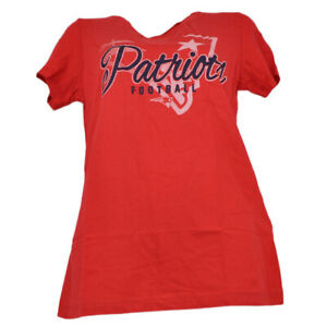NFL New England Patriots Tackle Red Tshirt Tee Womens Ladies Short Sleeve