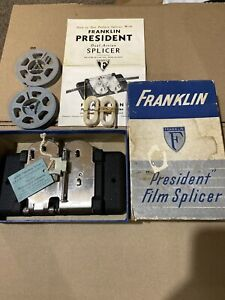 Franklin President Dual Action Film Splicer  With Box -1950s