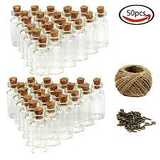 50Pcs 5ml Small Mini Glass Bottles vials, Mini Glass Jars with Cork Stoppers