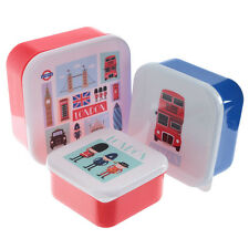 3 Toddler Snack Food Keepers London - Pod Container Lunch Baby Kids Boxes Tubs
