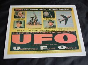 LOBBY CARD POSTER. 1956 Documentary 'UFO: Unidentified Flying Objects' 11.5 x 9