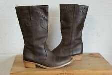 BROWN LEATHER WESTERN COWBOY BOOTS SIZE 4 / 37 BY NEXT USED CONDITION