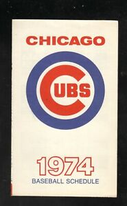 Chicago Cubs--1974 Large Pocket Schedule--Old Style Beer