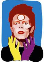 David Bowie Aladdin Sane Collector Print Framed Print 30x40cm Ziggy Stardust