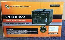 Power Bright 2000W Step Up/Down Voltage Transformer Model:Vc2000W