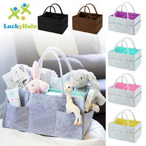 Baby Diaper Caddy Organizer Large Capacity Portable Nursery Felt Storage Bag UK