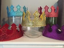 Kids Glitter Queen King Crown Costume Fancy DressUp Imaginative Play Party Adult