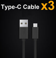 3x Black USB 2.4A Quick Car charger  Type-c Cable For Huawei P9 P10 Mate 9