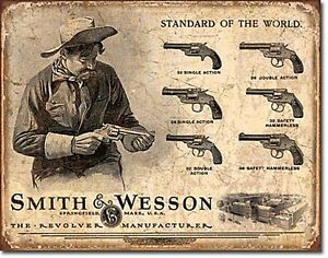 Smith & Wesson Standard of the World Metal Wall Sign 400mm x 310mm (de)