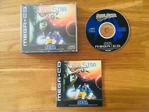 Rare Sega Mega CD PAL game SOULSTAR boxed with manual VGC