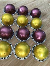 !!!! 12 leere Nespresso VERTUO Kapseln Basteln, tolle Farben gelb gold u. rose !