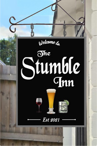 PERSONALISED HANGING PUB SIGN MAN CAVE NEW DESIGN FREE POSTAGE