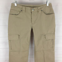 Duluth Trading womens 4 x 31 stretch beige flap cargo straight tough pants LNC