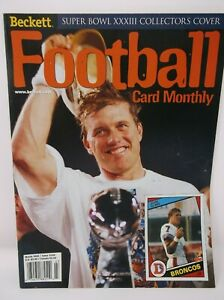 Beckett Football Card Monthly March 1999 Super Bowl XXXIII Collectors Cover