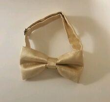 Men Bow Tie Formal Wedding Party Light Gold Necktie Fashion