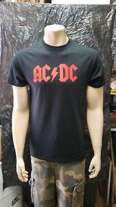 AC/DC Red Logo T-Shirt AC DC Classic Hard Rock Band Tee Adult S-3XL