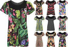 Women's Plus Size Floral Polyester Short Sleeve Sleeve Tops & Shirts