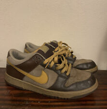 2008 Nike SB Dunk Low 6.0 Dark Brown Tan Size 9.5 314142 271 - RARE
