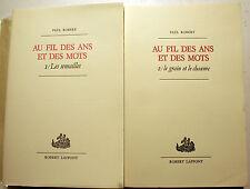 PAUL ROBERT/AU FIL DES ANS ET DES MOTS/1979/EO/GRAND PAPIER/RARE/DICTIONNAIRE