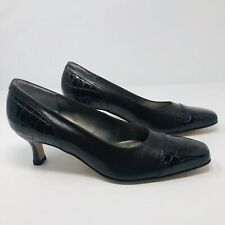Ros Hommerson Womens Size 7M Gator Toe Heels Brown Leather Shoes H26852 S7