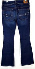 Women's American Eagle Stretch Kick Boot Cut Jeans Size 00 Dark Wash