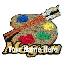 Painting Custom Iron-on Patch With Name Personalized Free