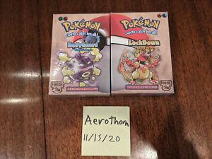 "Lot of 2 Pokemon TCG Theme Decks: ""Lockdown"" and ""Body Guard"" - Factory Sealed"