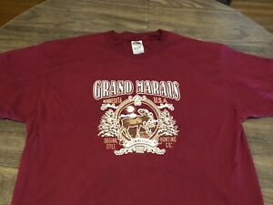 Grand Marais Minnesota Lake Superior Small Town XL Red T Shirt