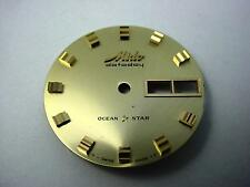 Ocean Star Mido Datoday Vintage Watch Dial Gold 29.27mm Gold Square Markers NOS