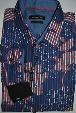 $149 NWT NEW MEN'S BUGATCHI UOMO SHAPED FIT DRESS BUTTON UP SHIRT SIZE XL
