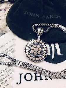 John Hardy Kali 18k Dot Pendant Necklace With 925 Classic Chain
