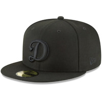 Los Angeles Dodgers Secondary Logo Basic New Era Black 59FIFTY Fitted Hat