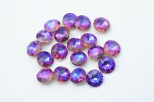 100 pcs Rainbow Purple light 8mm Diamond Faceted Jewels Nail Art