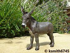 2010 PAPO Gris Âne solide Jouet en plastique Animal Farm Animal Mule fesses 💥