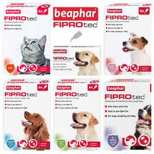More details for beaphar spot on flea tick treatment cat & dog s m l xl - 1 4 6 pipettes fiprotec