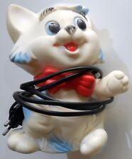 LAMPADA LEDRA VINTAGE RUBBER TOYS ABAT JOUR GATTO CAT GATTINO ANNI '60-70