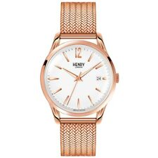 Henry London HL39-M-0026 Ladies Richmond White Rose Gold Watch RRP £125